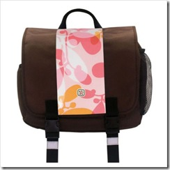 Pink and Brown Messenger Bag