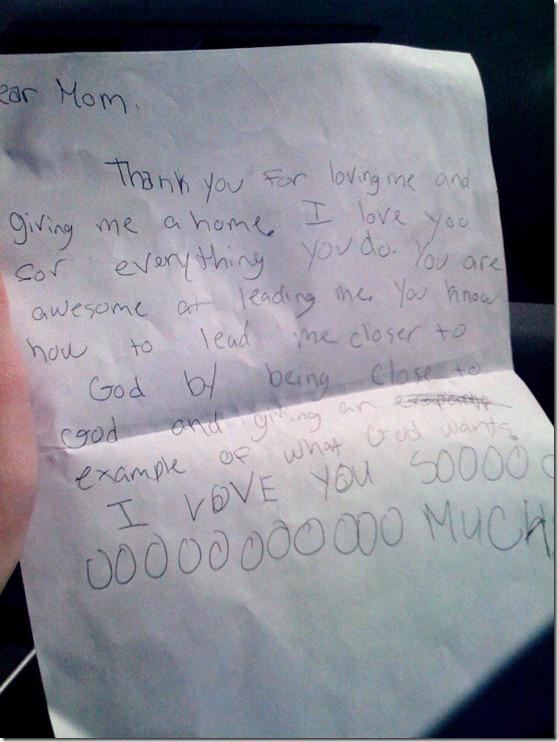 Maddie's Letter